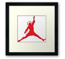 Air Jesus Solo by Tai's Tees Framed Print