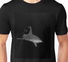 An Oceanic White Tip Shark and Pilot Fish Unisex T-Shirt