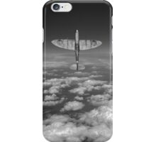 A cut above, black and white version iPhone Case/Skin