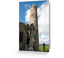 historic rock of Cashel ruins Greeting Card