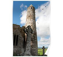 historic rock of Cashel ruins Poster