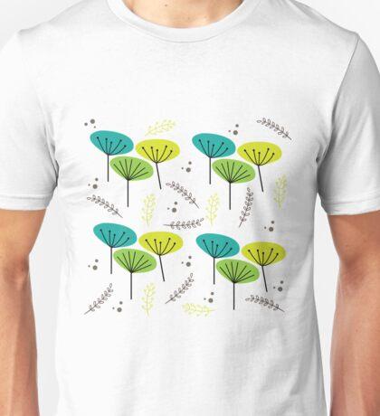 Mid Century Flowers Unisex T-Shirt