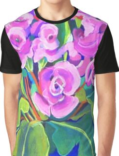 Pink Primula Graphic T-Shirt