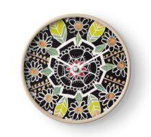 fleur indienne Horloge
