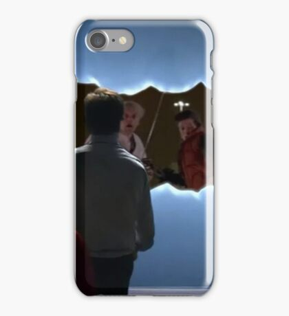 bttf doctor who iPhone Case/Skin