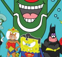 Justice League of Bikini Bottom Sticker
