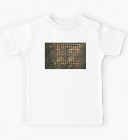 Steampunk - Phones - The old switch board Kids Tee