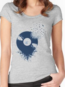 vinyl record Women's Fitted Scoop T-Shirt