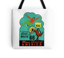 Route 66 Main Street of America Vintage Travel Decal Tote Bag