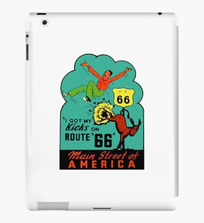 Route 66 Main Street of America Vintage Travel Decal iPad Case/Skin
