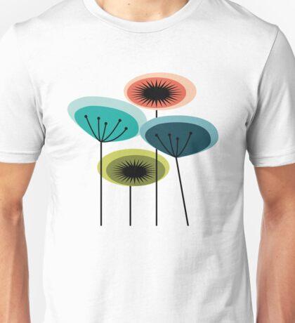 Flowers - Mid Century Unisex T-Shirt