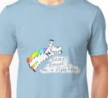 Super Hero Zebra Unisex T-Shirt