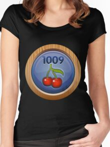 Glitch Achievement overpaid executive fruit tree harvester Women's Fitted Scoop T-Shirt