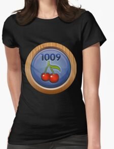Glitch Achievement overpaid executive fruit tree harvester Womens Fitted T-Shirt