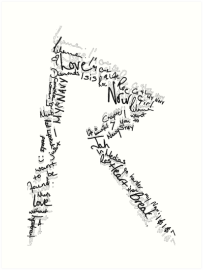 Logo Love (Black topography) by RihannaLove