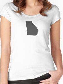Georgia Plain Women's Fitted Scoop T-Shirt
