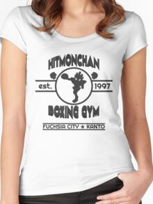 Hitmonchan Boxing Gym | Gray Women's Fitted Scoop T-Shirt