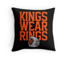 Giant Amongst Kings Throw Pillow