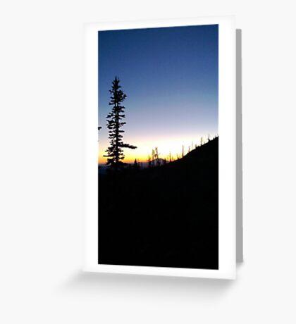 Washington Sunset Greeting Card