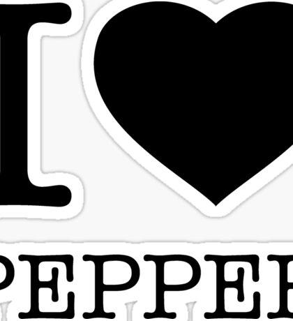 I ♥ PEPPER Sticker