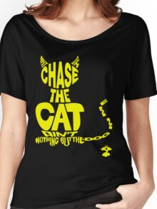 Chase the Cat - Cloud Nine (Yellow) Women's Relaxed Fit T-Shirt