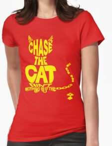 Chase the Cat - Cloud Nine (Yellow) Womens Fitted T-Shirt