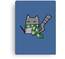 Slytherin Kitty Canvas Print
