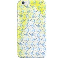 Yellow Blue Thumbs iPhone Case/Skin