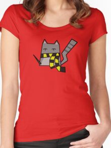 Hufflepuff Kitty Women's Fitted Scoop T-Shirt