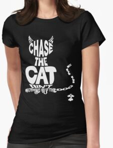 Chase the Cat - Cloud Nine (White) Womens Fitted T-Shirt