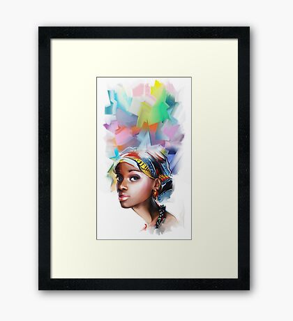 African young woman. Framed Print
