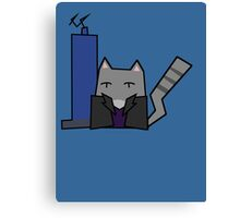 9th Doctor Cat Canvas Print