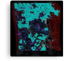 USGS TOPO Map California CA San Francisco South 300069 1956 24000 geo Inverted Canvas Print
