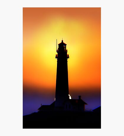 Pigeon Point Lighthouse prepares for another Night of Work Photographic Print