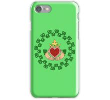 Claddagh and Knotwork Green iPhone Case/Skin