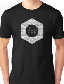 Believe Quote Typography Text Design Unisex T-Shirt