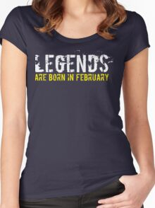 Legends Are Born In February Sentence Quote Women's Fitted Scoop T-Shirt