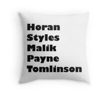 one direction- last names Throw Pillow