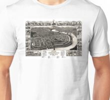 Bird's eye view of the 1881 city of Holyoke, and village of South Hadley Falls, Mass. Unisex T-Shirt