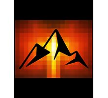 mountain sunset pixel abstract Photographic Print