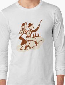 Hike Hiking Vintage Long Sleeve T-Shirt