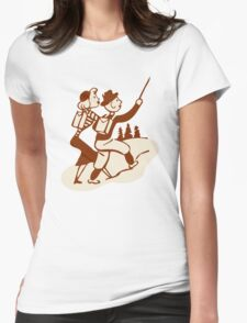 Hike Hiking Vintage Womens Fitted T-Shirt