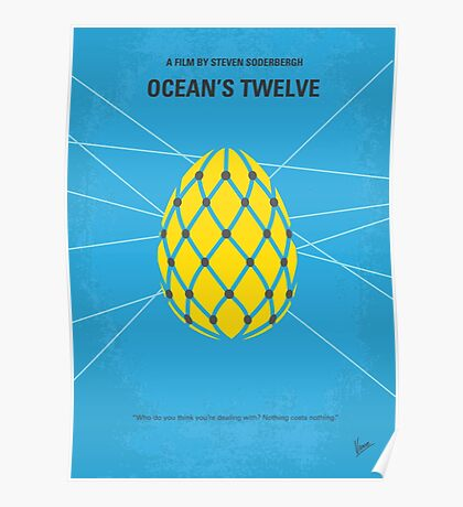 No057 My Oceans 12 minimal movie poster Poster