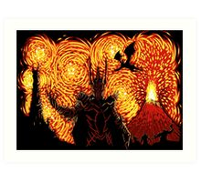 Starry Middle Earth - Sauron Lord of the Rings Art Print