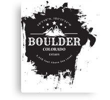 Rock Climbing Boulder Colorado Canvas Print