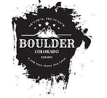 Rock Climbing Boulder Colorado Photographic Print