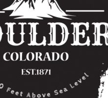 Rock Climbing Boulder Colorado Sticker