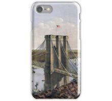 New York - Great East River Suspension Bridge - 1885 iPhone Case/Skin