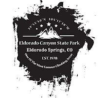 Rock Climbing Eldorado Canyon State Park Photographic Print