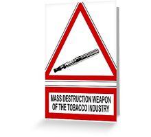 e-cigarette vs tobacco Greeting Card